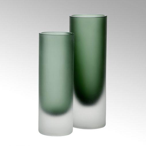Canova Vase moosgrün/gefrostet
