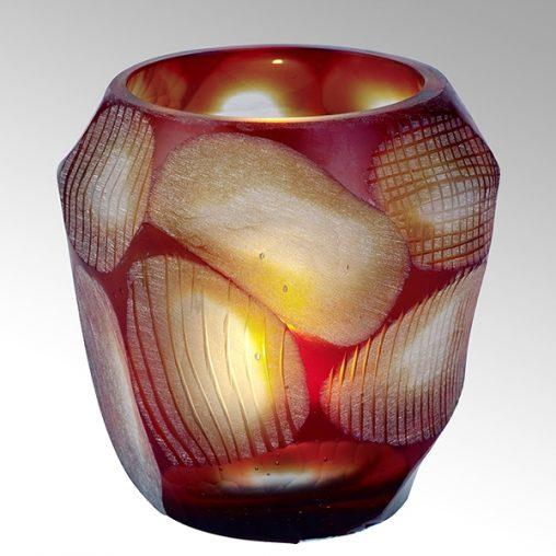 Lambert Silvestro Teelicht rot groß