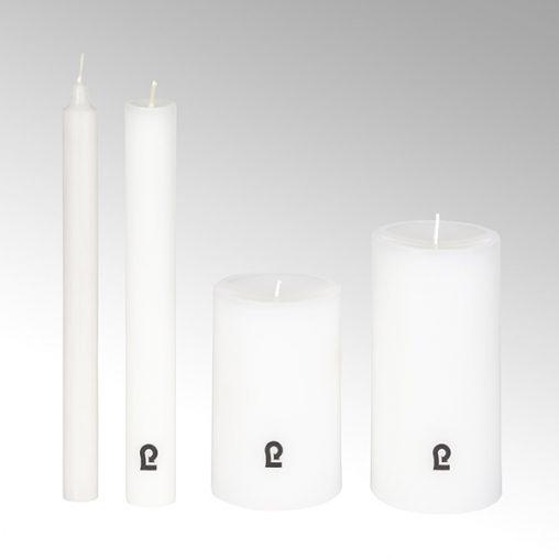 Lambert Kerze rund weiß